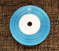 Лента атласная для упаковки подарков, цвет голубой (метраж 23 м, ширина 5 мм), фото 1
