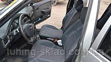 Чохли на сидіння Деу Нексія 2 (чохли з екошкіри Daewoo Nexia 2 стиль Premium)