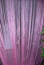 Штори нитки теракот з рожевим відтінком однотонний, фото 2