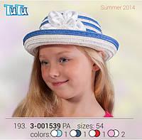 Шляпа для девочки TuTu арт. 3-001539