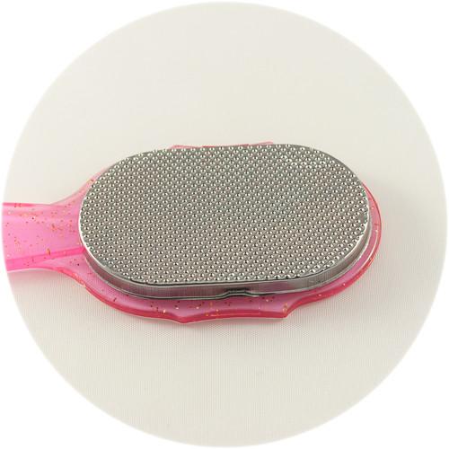 терка для ног розового цвета ZINGER с ручкой
