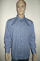 Голубая рубашка AYGEN (Турция) в мелкую полоску, фото 1
