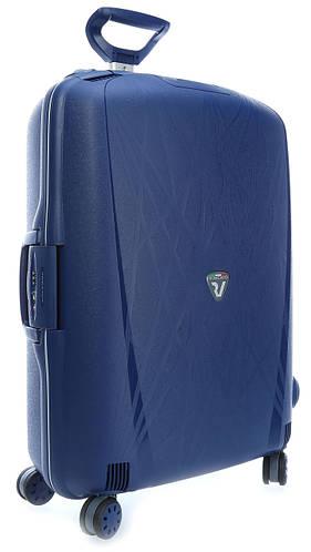 Дорожный пластиковый чемодан 4-колесный 90 л. Roncato Light 500711/83 т. синий
