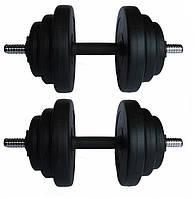 Гантели разборные битумные 2 х 18.5 КГ (вес общий 37 кг)