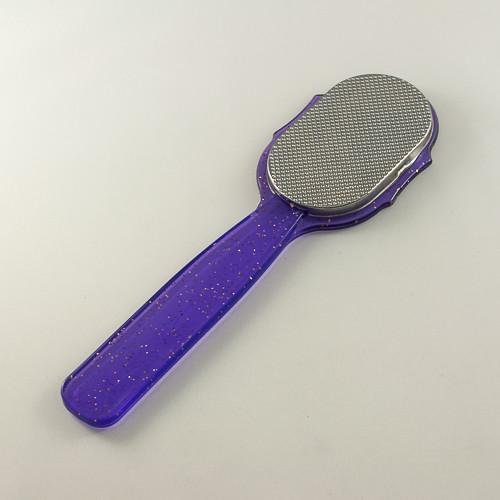 терка для ног фиолетовая с блестками