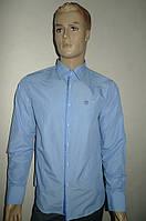 Мужская рубашка в мелкую голубую клетку, фото 1