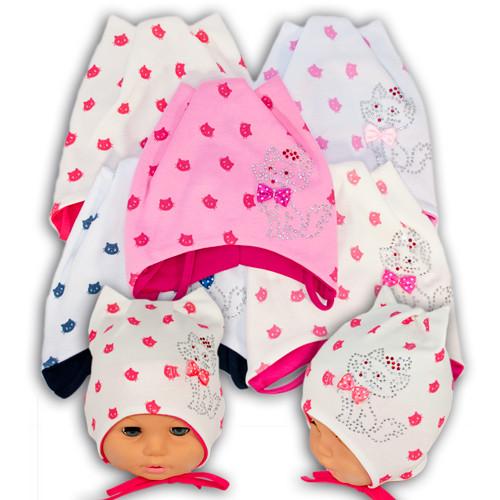Детские трикотажные шапки для девочек