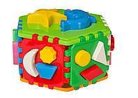 """Игрушка- куб """"Умный малыш Гиппо Технок"""".  Пазл - сортер."""