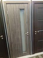 Дверь межкомнатная Модель Геометрия (остекленная) дуб  английский