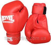 Боксерские перчатки REYVEL винил 12 oz (пара) Красный