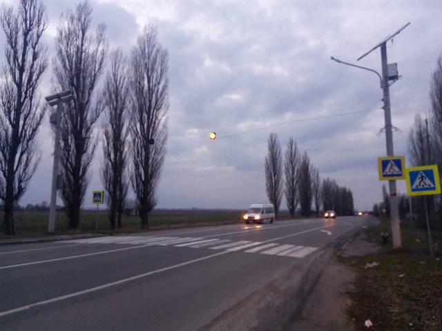 Пешеходный переход на солнечных батареях 1