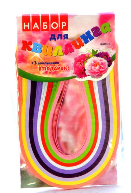 "Набор для квиллинга""цветы""(Пион) размер лент 5мм х 300мм 9цветов"