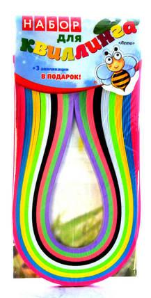 "Набор для квиллинга""сезоны""(Лето) размер лент 5мм х 420мм 9цветов, фото 2"