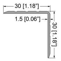 Профіль 0100. Куточок алюмінієвий 30мм х 30мм з товщиною стінки 1,5 мм