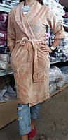 Халат велюровый женский, производство Турция