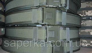 Тактический военный ремень олива (жесткая конструкция), фото 3