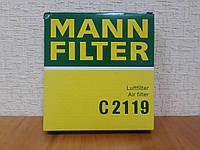 Фильтр воздушный Daewoo Matiz (Матиз) 1998--> Mann (Германия) C 2119