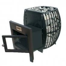 Печь-каменка для бань и саун HEAT Скеля 20 (с выносом, покрашенный корпус, панорама-стекло)
