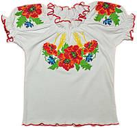 Вышиванка для девочки с коротким рукавом (интерлок), фото 1