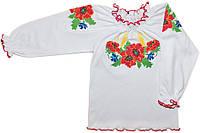 Вышиванка для девочки с длинным рукавом (интерлок)