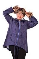 Куртка голубая , парка ,По 012-3 ,большие размеры.