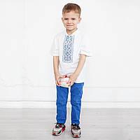 Вышитая футболка для мальчика к школе