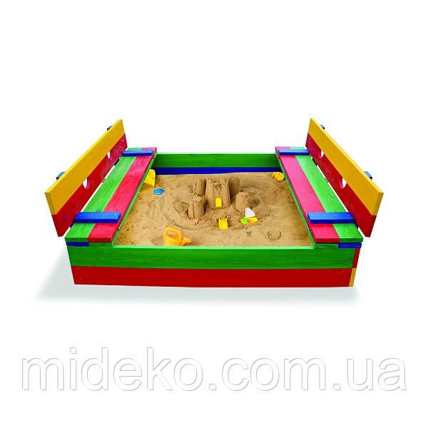 Детская песочница цветная