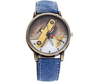 [ Часы детские Plane ] Детские наручные кварцевые часы Самолет