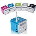 Портативная колонка SPS TD V26 мобильная колонка мини куб с mp3 плеером USB FM, фото 3