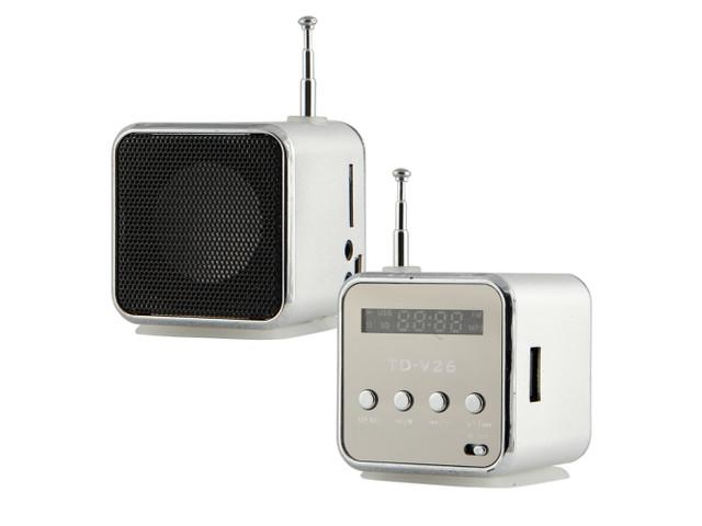 Портативная колонка SPS TD V26 мобильная колонка мини куб с mp3 плеером USB FM