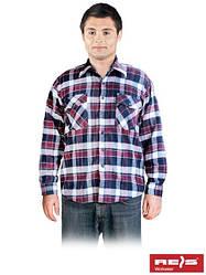 Рубашка фланелевая утепленная рабочая REIS KFLUX DC