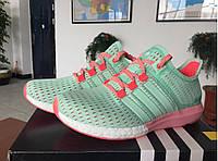 Кроссовки женские Adidas Ultra Boost  (адидас) зеленые
