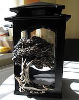 Лампада ритуальная на могилу из полимера Дерево