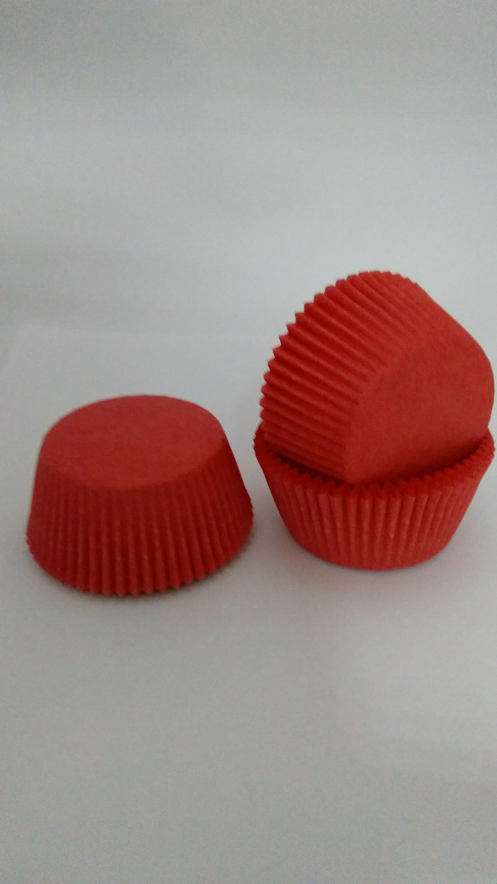 Форма для маффинов красные 50/3мм Украина - 04802
