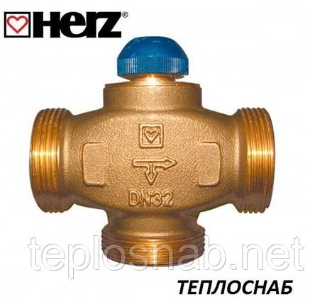 "HERZ Клапан термостатический трехходовой CALIS-TS-RD 1 1/4"" (DN32-1 1/2""РН), фото 2"