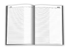 """Ежедневник А6  192л. не датированый, обложка цветная ламинированная """"сендвич"""", блок офсет импортный 60г/м2, кл"""