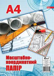 Масштабно-координатная бумага, Ф.А4, 200 листов, офсет 70 г/м2, цвет синий
