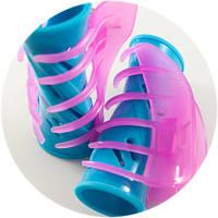 Бигуди YRE голубые с розовым крабом (7см 30мм/25мм 24шт), фото 1