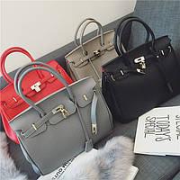 Женские сумки копия Hermes серая и черная