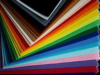 Фетр плотный 250 х 250 х 5мм - 1 лист, цвет на выбор
