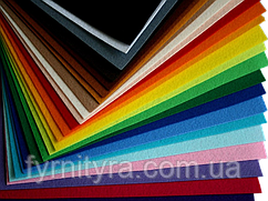 Фетр плотный 250 х 250 х 2-3мм - 1 лист, цвет на выбор