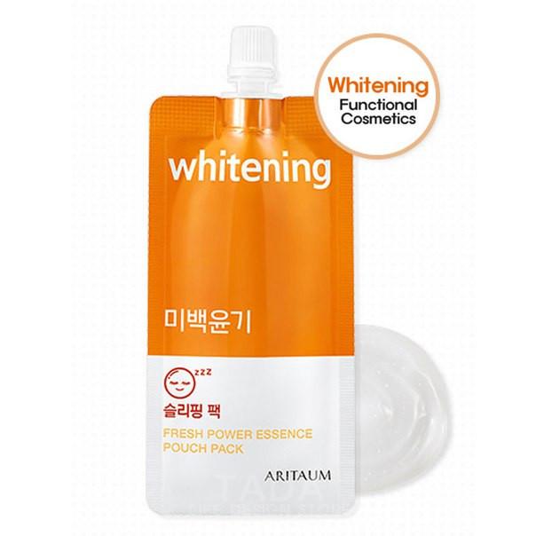 Ночная осветляющая маска Aritaum Whitening Fresh Power Essence Pouch Pack