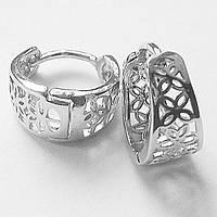 Серьги кольца без вставок. Ювелирная бижутерия.