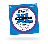 Струны D`ADDARIO EXL115 XL BLUES/JAZZ ROCK (11-49)