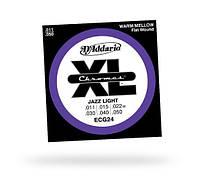 Струны D`ADDARIO ECG24 XL CHROMES JAZZ LIGHT (11-50)