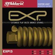 Струны D`ADDARIO EXP13 EXP 80/20 BRONZE CUSTOM LIGHT 11-52