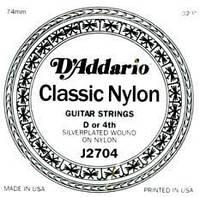 Струна для классической гитары D`ADDARIO J2704 CLASSICS SILVER D NORMAL TENSION