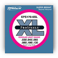 Струны D`ADDARIO EPS170-6SL PRO STEELS LIGHT 6 STRING 30-130