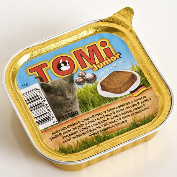 TOMi junior ДЛЯ КОТЯТ консервы для котят, паштет