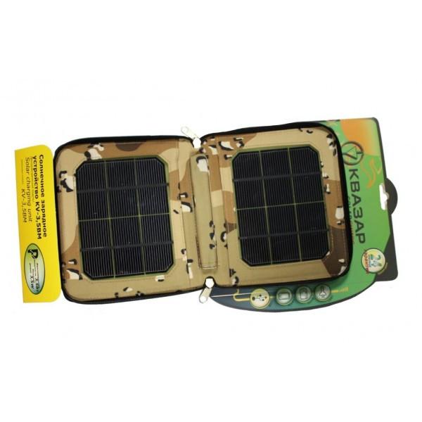 Kvazar KV-3.0ВM - cолнечные (складные) зарядные устройства, зарядки 3.0 Ватт